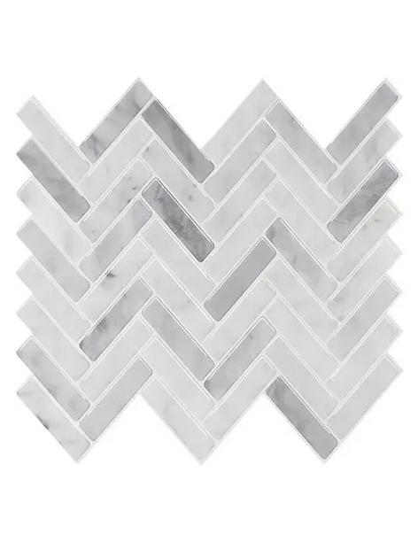 peel and stick herringbone vinyl tiles